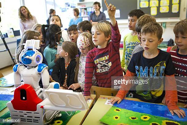 Reportage on the Avatar Kids project which allows children and teenagers who have to be hospitalised to be present in the classroom through Nao a...