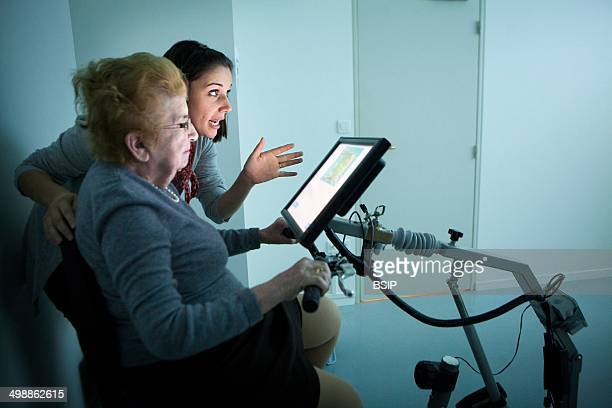 Reportage on the use of virtual reality in cognitive therapy at the EHPAD retirement home in Laval France Ride in EHPAD is a virtual reality app that...