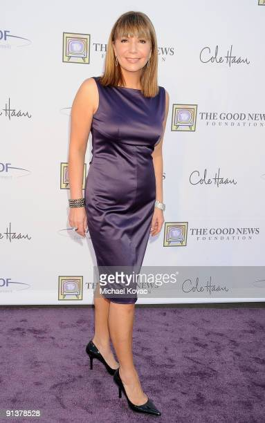 Reporter Ana Garcia appears at The Good News Foundation's 3rd Annual High Flying Fundraiser at Santa Monica Airport on October 3 2009 in Santa Monica...