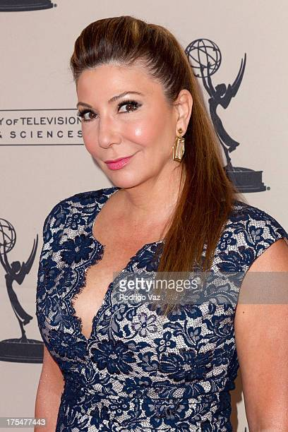 Reporter Ana Garcia arrives at the Academy of Television Arts Sciences 65th Los Angeles Area Emmy Awards at Leonard H Goldenson Theatre on August 3...