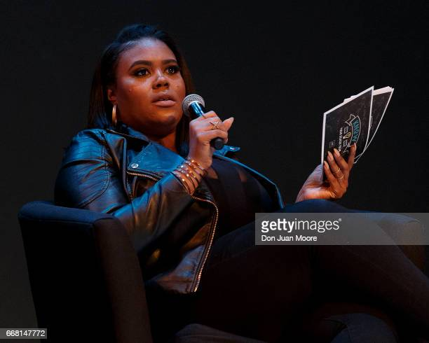 Reporter and show host Nina Parker serves as moderator during the Know Your Status Tour on the campus of Florida AM University on April 12 2017 in...
