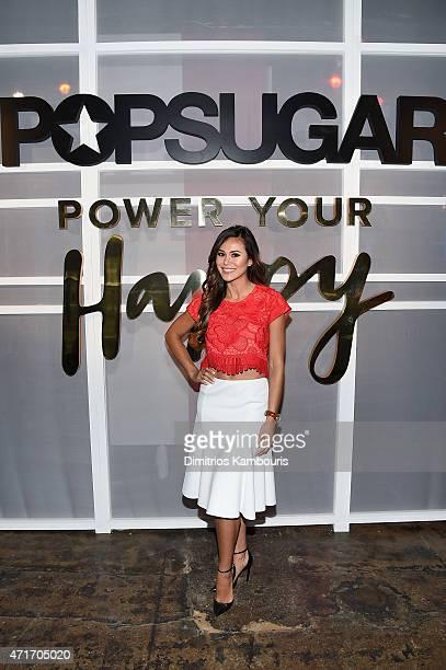 Reporter Associate Producer Brandi Milloy attends the POPSUGAR Digital Newfront 2015 at Cedar Lake on April 30 2015 in New York City
