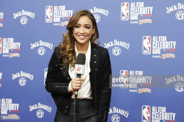 Reporter Cassidy Hubbarth attends the NBA AllStar Celebrity Game presented by Ruffles as a part of 2018 NBA AllStar Weekend at the Los Angeles...