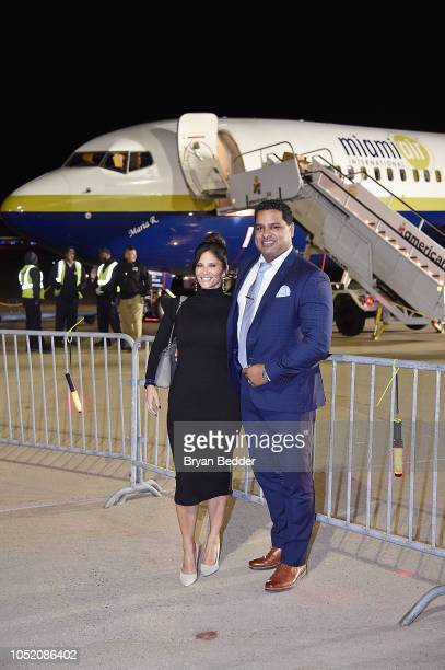 Reporter Darlene Rodriguez and David Rodriguez attend the 2018 Americares Airlift Benefit on October 13 2018 in White Plains New York