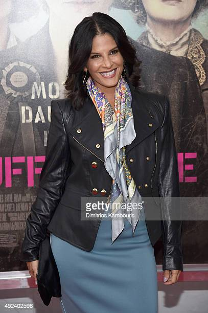Reporter Darlene Rodriguez attends the 'Suffragette' New York Premiere at The Paris Theatre on October 12 2015 in New York City