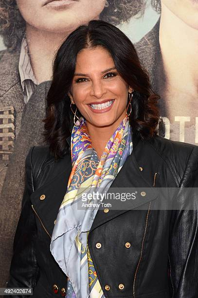 Reporter Darlene Rodriguez attends the 'Suffragette' New York premiere at Paris Theatre on October 12 2015 in New York City
