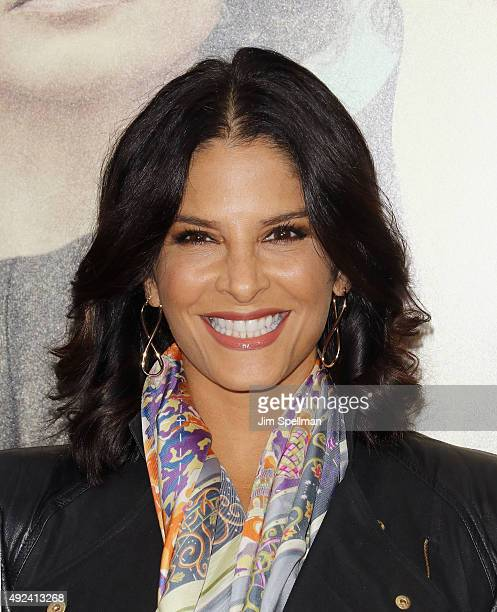 Reporter Darlene Rodriguez attends the Suffragette New York premiere at The Paris Theatre on October 12 2015 in New York City