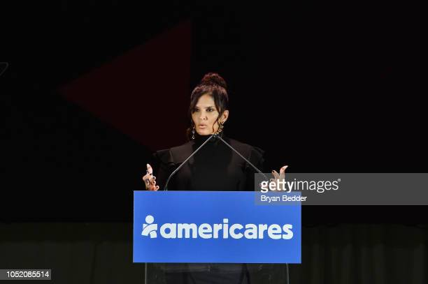 Reporter Darlene Rodriguez speaks onstage during the 2018 Americares Airlift Benefit on October 13 2018 in White Plains New York