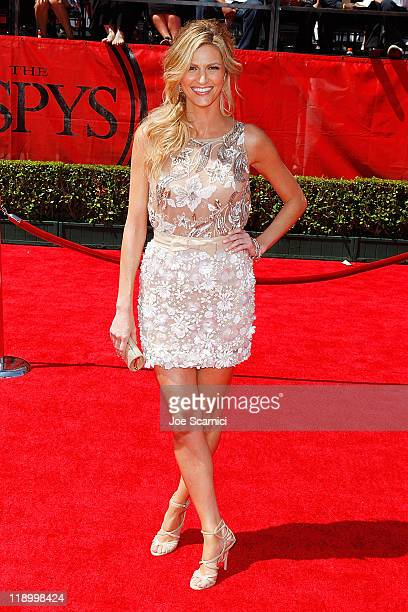 ESPN reporter Erin Andrews arrives at the 2011 ESPY Awards at Nokia Theatre LA Live on July 13 2011 in Los Angeles California