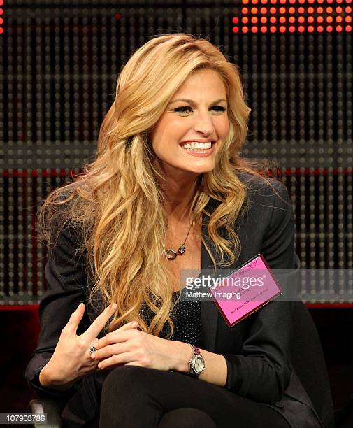ESPN reporter Erin Andrews attends the ESPN Winter 2011 TCA Panel at the Langham Hotel on January 5 2011 in Pasadena California