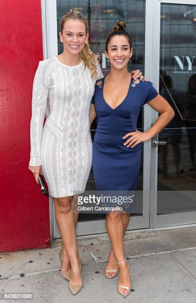 Reporter for CBS Sports Jamie Erdahl and Olympic gymnast Aly Raisman arrive to Pamella Roland Spring 2018 Collection Show during New York Fashion...