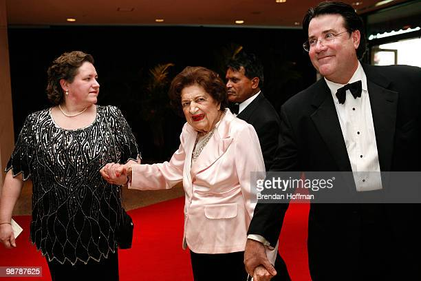 Reporter Helen Thomas arrives at the White House Correspondents' Association dinner on May 1 2010 in Washington DC The annual dinner featured...