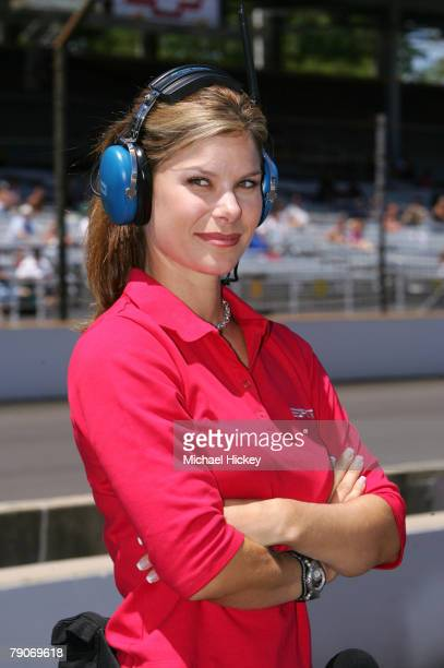 Reporter Jamie Little seen during qualifications for the Indianapolis 500 at the Indianapolis Motor Speedway in Indianapolis, Indiana on May 20, 2006.