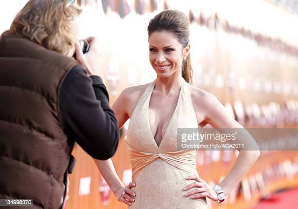 Reporter Jill Nicolini arrives at the American Country Awards 2011 at the MGM Grand Garden Arena on December 5 2011 in Las Vegas Nevada