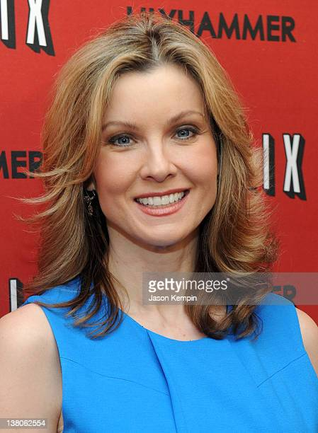 WPIX reporter Jodi Applegate attends the North American Premiere Of Lilyhammer a Netflix Original Series at Crosby Street Hotel on February 1 2012 in...