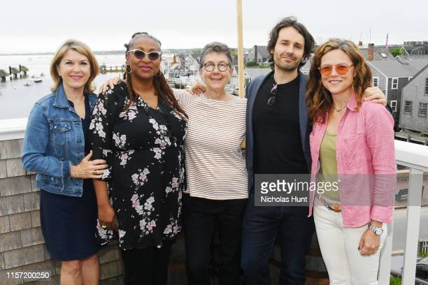 Reporter Kathleen Matthews Directors Lisa Cortes Julia Reichert AJ Eaton and Irene Taylor Brodsky attend Morning Coffee during the 2019 Nantucket...