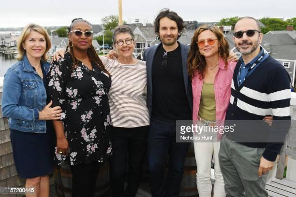 Reporter Kathleen Matthews Directors Lisa Cortes Julia Reichert AJ Eaton Irene Taylor Brodsky and NFF Film Program Director Basil Tsiokos attend...