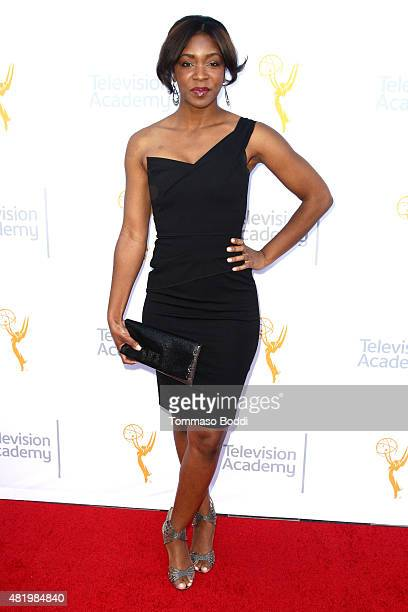 Reporter Kristina Pink attends the 67th Los Angeles Area Emmy Awards held at the Skirball Cultural Center on July 25 2015 in Los Angeles California