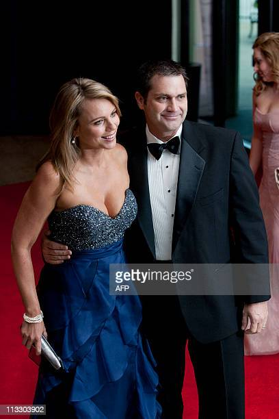 Reporter Lara Logan and husband Joseph Burkett arrive on the red carpet for the annual White House Correspondents Association dinner April 30, 2011...