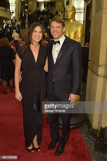 Reporter Lauren Schuker Blum and producer Jason Blum attend the 87th Annual Academy Awards at Hollywood Highland Center on February 22 2015 in...
