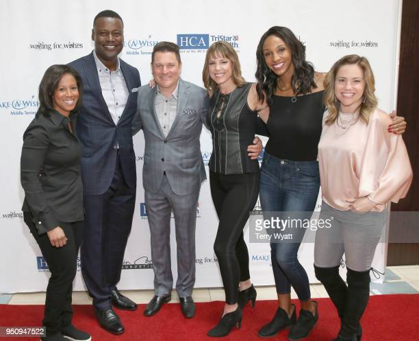 Reporter Lisa Salters host Kevin Carter host Jay DeMarcus journliast Hannah Storm ESPN host Maria Taylor and Food Network host for Bobby Flay Jaymee...