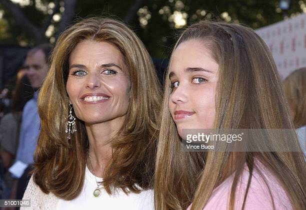 Reporter Maria Shriver and daughter Christina attend the premiere of the Fox Searchlight film The Clearing during closing night of the 2004 Los...