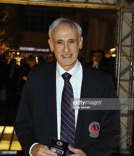 Reporter Michael Farber walks the red carpet prior to the induction ceremony at the Hockey Hall of Fame on November 17 2014 in Toronto Canada