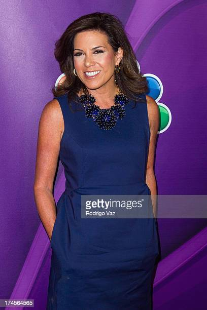 Reporter Michele Tafoya attends the 2013 Television Critic Association's Summer Press Tour NBC Party at The Beverly Hilton Hotel on July 27 2013 in...