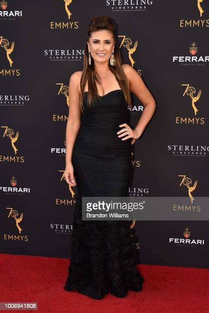 Reporter Naibe Reynoso attends the 70th Los Angeles Area Emmy Awards at Saban Media Center on July 28 2018 in North Hollywood California