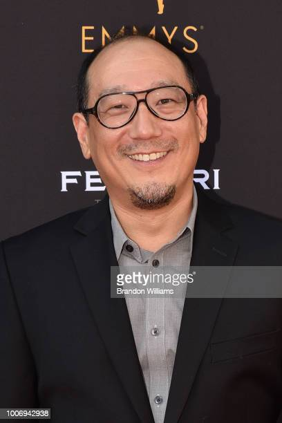 Reporter Nic Cha Kim attends the 70th Los Angeles Area Emmy Awards at Saban Media Center on July 28 2018 in North Hollywood California