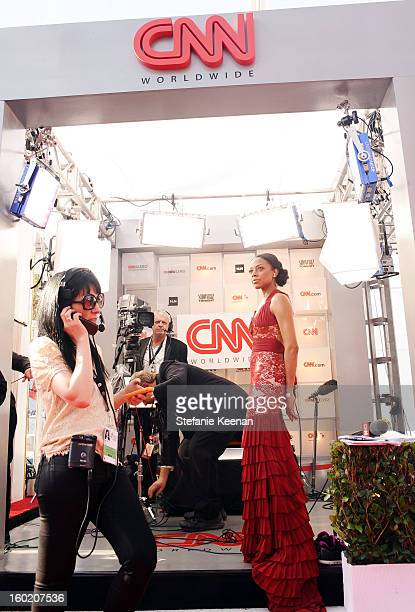 Reporter Nischelle Turner attends the 19th Annual Screen Actors Guild Awards at The Shrine Auditorium on January 27 2013 in Los Angeles California...