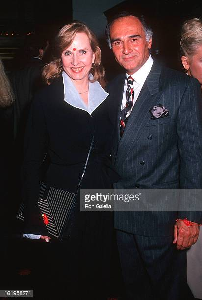 """Reporter Pia Lindstrom and actor Tony Lo Bianco attend Chopard Celebrate the Launch of Its New Fragrance """"Casmir"""" on March 28, 1994 at Saks Fifth..."""