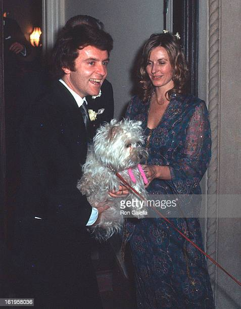 Reporter Pia Lindstrom and husband Joseph Daly at their wedding reception on December 28, 1971 at Pia Lindstrom's Central Park West Apartment in New...