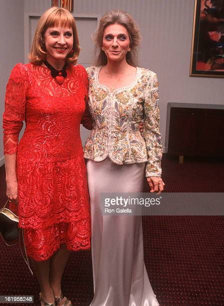 """Reporter Pia Lindstrom and singer Judy Collins attend the Screening of the Showtime Original Movie """"Chantilly Lace"""" on June 15, 1993 at the Walter..."""