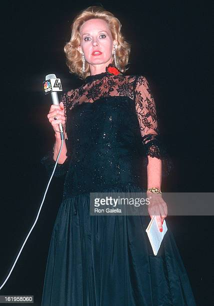 Reporter Pia Lindstrom attends the 41st Annual Tony Awards on June 7, 1987 at the Mark Hellinger Theatre in New York City.