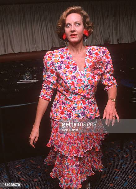 Reporter Pia Lindstrom attends the 43rd Annual Tony Awards on June 4, 1989 at the Lunt-Fontanne Theatre in New York City.