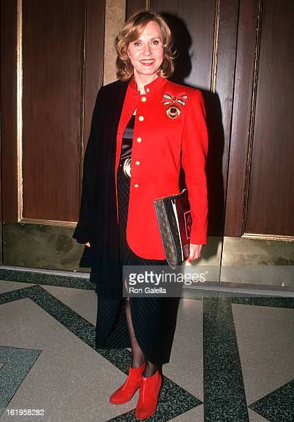 """Reporter Pia Lindstrom attends the """"Grease"""" Broadway Musical Opening Night Performance on May 11, 1994 at the Eugene O'Neill Theatre in New York City."""