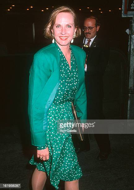 """Reporter Pia Lindstrom attends the """"Prelude to a Kiss"""" Broadway Play Opening Night Performance on May 1, 1990 at the Helen Hayes Theatre in New York..."""