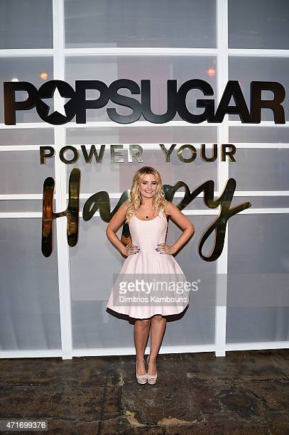 Reporter Producer Kirbie Johnson attends the POPSUGAR Digital Newfront 2015 at Cedar Lake on April 30 2015 in New York City