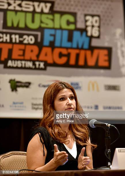 Reporter Rachel Nichols speaks onstage at 'The New Church: Sport as Currency of American Life' during the 2016 SXSW Music, Film + Interactive...