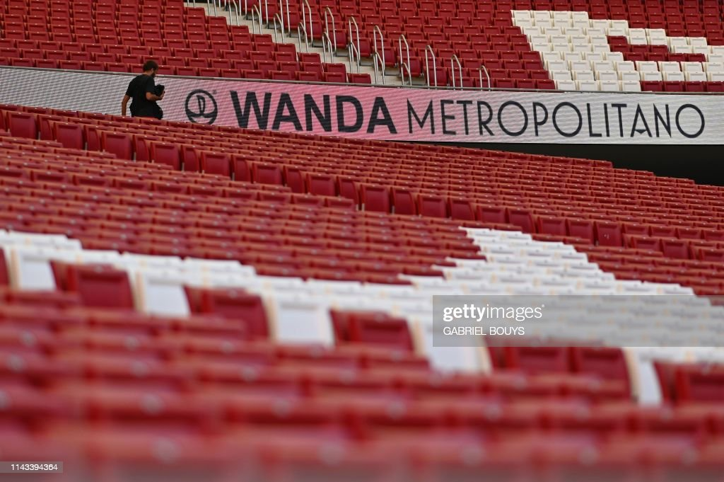 FBL-C1-EUR-ESP-WANDA-STADIUM : News Photo