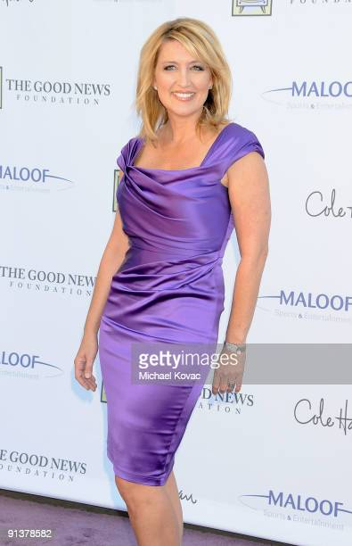 Reporter Wendy Burch appears at The Good News Foundation's 3rd Annual High Flying Fundraiser at Santa Monica Airport on October 3 2009 in Santa...