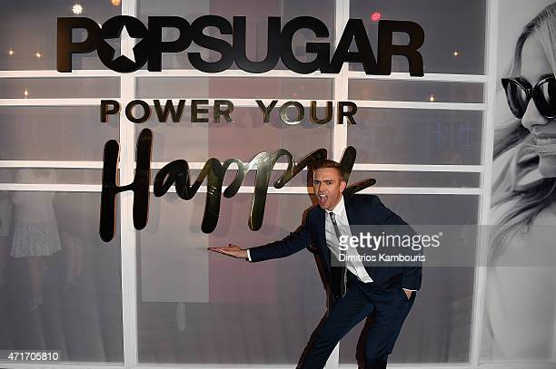 Reporter/producer Matthew Rodrigues attends the POPSUGAR Digital Newfront 2015 at Cedar Lake on April 30 2015 in New York City
