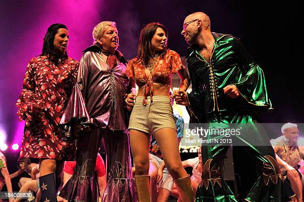 Reporters Nina Nannar Lawrence Mcginty Lucrezia Millarini and Richard Edgarfrom ITV News perform at the annual Newsroom's Got Talent event to raise...