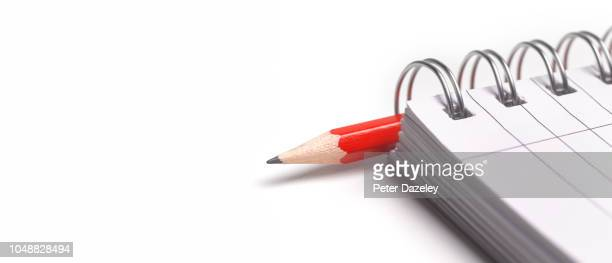 reporter's notepad - pen stock pictures, royalty-free photos & images