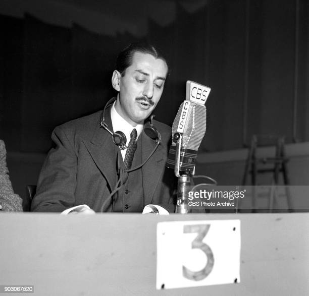 CBS reports the 1944 United States presidential election results Tuesday November 7 1944 New York NY At CBS microphone is newsman Robert Trout