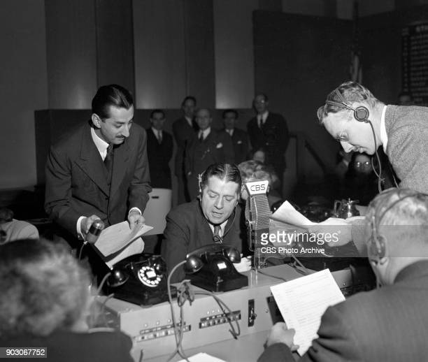CBS reports the 1944 United States presidential election results Tuesday November 7 1944 New York NY Sitting at the CBS microphone is CBS news...