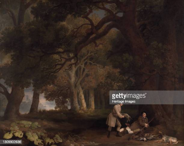 Repose after Shooting, 1770. Artist George Stubbs. .
