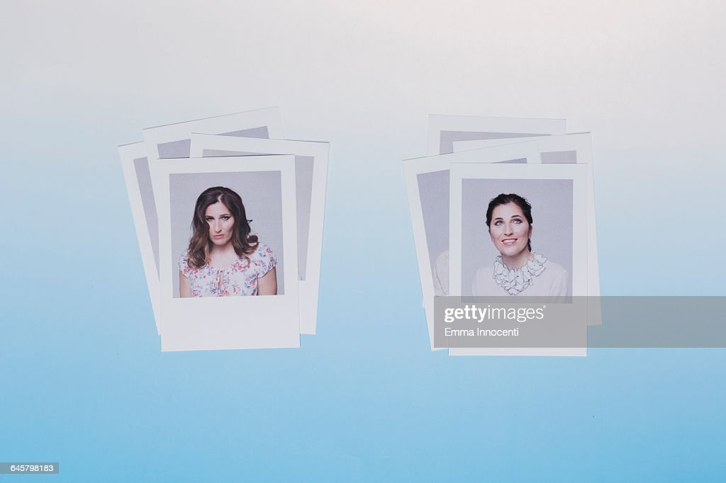 Representation Of Women In Different Moods : Stock Photo