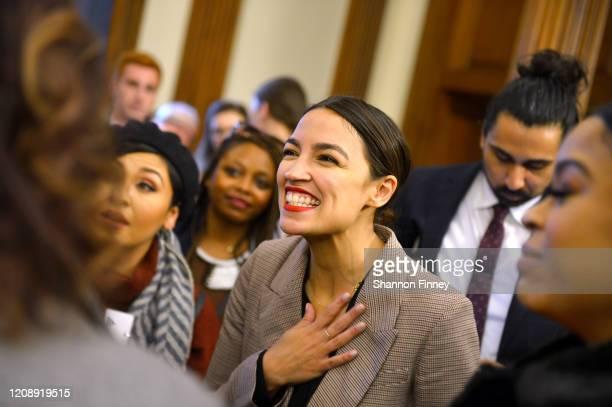 Representative Alexandria Ocasio-Cortez attends as Netflix Celebrates The Premiere Of GENTEFIED In Washington, D.C. On February 26, 2020 in...